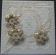 Oyster Stamps Gallery:  Love the gold and the details on this card.