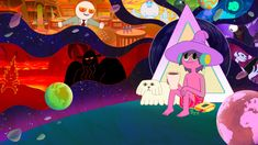 The Midnight Gospel The Midnight Beast, Pendleton Ward, First Animation, Cartoon Photo, Colorful Drawings, Trippy Drawings, Cool Animations, Vinyl Art, Cartoons