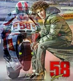 Marco Simoncelli #MS58 RIP.  EXCELLENCE