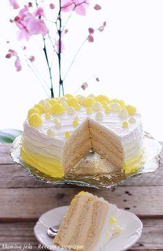 Mamina jela: Sladoled plazma torta ok Torte Recepti, Kolaci I Torte, Torta Recipe, Torte Cake, Biscuit Cake, Minnie Mouse Cake, Vanilla Cake, Biscuits, Deserts