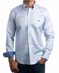 Camisas Hamont & Blaine Estampadas - Anclas & Lunares