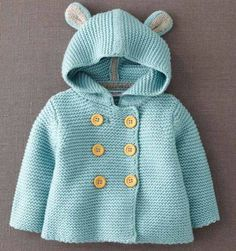 Sewing Baby Jacket Mini Boden 35 Ideas For 2019 My Baby Girl, Crochet Baby, Knit Crochet, Knitted Baby, Knitted Coat, Knit Jacket, Hooded Jacket, Bear Jacket, Bear Coat