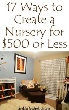 While you could spend thousands on your baby's nursery, here are some great tips to set up a nursery without breaking the bank.