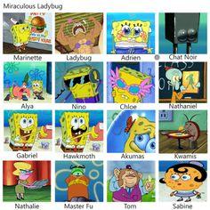 Miraculous LadyBug And Sponge Bob