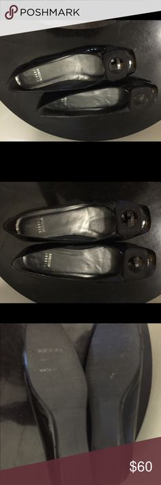 Stuart Weitzman  patent leather flats Barely worn black patent leather shoes. Size 6. Shiny button now on toe Stuart Weitzman Shoes Flats & Loafers