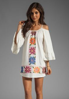 VAVA BY JOY HAN Anna Embroidered Dress in White - Dresses