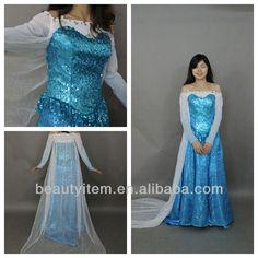 2014 newest cosplay Frozen dress princess Elsa costume $1~$100