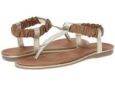 Kenneth Cole Reaction River Float tan and gold thong sandal Kids Sandals, Summer Sandals, Girls Dress Shoes, Sparkly Shoes, Gold Sandals, Tween Girls, River, My Style, Sparkle