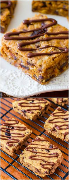 Healthy Peanut Butter Chunk Oatmeal Bars. - Sallys Baking Addiction note: these were delicious! My sister and I made these with dried cranberries. Between two toddlers and four adults..... they hardly lasted 4 hours :)