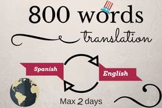 translate 800 words English to Spanish and vice versa by reymer