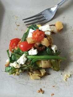 ... spinach and tomatoes. Cover for 20 mins. Add feta cheese and re cover