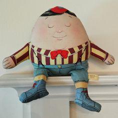 Humpty Dumpty Nursery Rhyme Two Faced Stuffed Doll by KTsVersion,