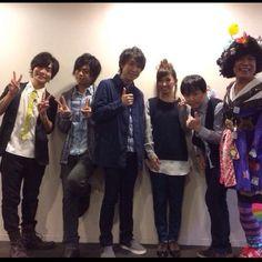 岡本信彦さん、浪川大輔さん、鈴村健一さん、ジョイまっくすポコさん。 花咲くまにまにイベント、より。