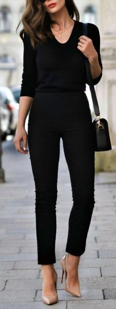 Ideas For Womens Fashion Edgy Chic Black Outfits Spring Dresses Casual, Casual Winter Outfits, Trendy Dresses, Nice Dresses, Dress Casual, Classy Casual, Classy Dress, Classy Chic, Classy Style