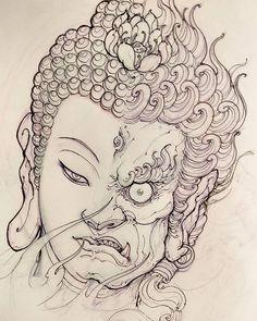 Tattoo sketches 451134087664893618 - Buddha Fudo sketch for Filler. Source by babycart Buddha Tattoos, Maori Tattoos, Buddha Tattoo Design, Irezumi Tattoos, Asian Tattoos, Warrior Tattoos, Japanese Tattoo Designs, Japanese Tattoo Art, Japanese Art