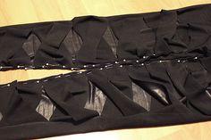 Bandaged Leggings tutorial: how to turn your regular old leggings into CRAZY CRISCROSS LEGGINGS!