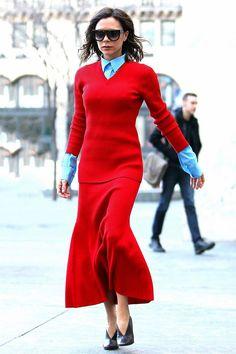 Виктория Бекхэм в Victoria Beckham в Нью-Йорке