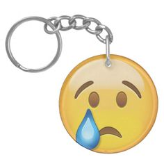 Crying Face Emoji Keychain