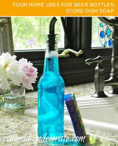 #Upcycle a beer bottle into a soap dispenser!