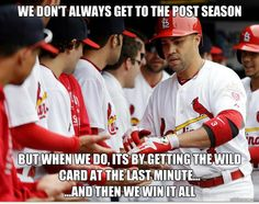 We don't always get to the postseason....