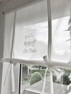 Bad Willkommen in ***THE WHITE SUITE*** ღ *SALLE DE BAIN Luxe PARIS* RAFFROLLO ShabbY GARDINE Badezimmer Raffgardine French ღ Breite 60 cm - 30,90 Euro 80 cm - 36,90 Euro 90 cm -...