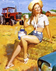 Gil Elvgren - NAPA Advertisement - circa 1966-1977  source: Elvgren by Taschen [557]
