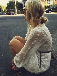 there is nothing fabulous about this girl's hair. Sorry. shes tiny and has a pretty dress on,however. if you werent tiny and didnt have a cute dress on, styling your hair like this would just be a bad hair day. Pinterest fAIL.