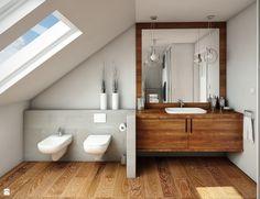 Łazienka na poddaszu - zdjęcie od Karolina Krac architekt wnętrz