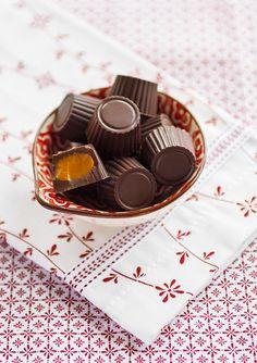 Chokladpralin med saffranskola