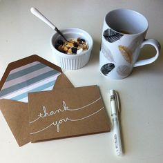 breakfast and thank you notes {parcel post}