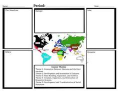 AP World History Snapshot Chart Graphic Organizer