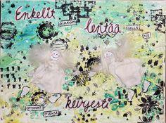 mixed media canvas, angels Mixed Media Canvas, New Media Art
