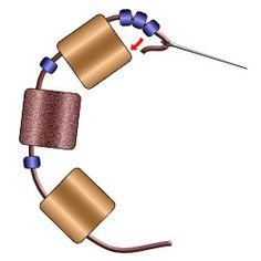 Tila Bead Square Stitch Bracelet Instructions