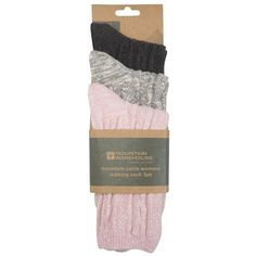 Mountain Cable Womens Socks 3 Pk (162.315 IDR) ❤ liked on Polyvore featuring intimates, hosiery, socks, cable knit socks, cable sock and chunky cable knit socks