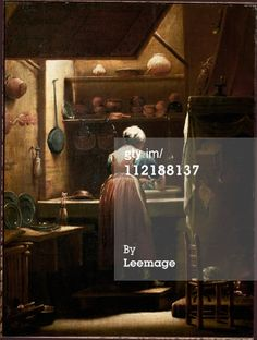 The Scullery-Maid, by Giuseppe Maria Crespi a.a lo Spagnolo . Florence Italy, Maid, Canvas, Illustration, Creative, Movie Posters, Movies, Painting, Graphics