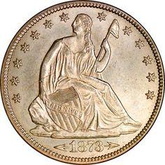 Seated Liberty Half Dollar - 1873 ARROWS 50C MS