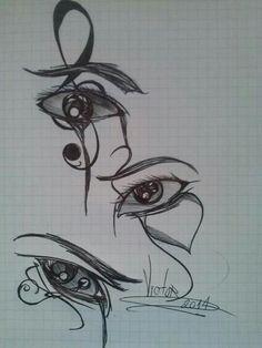 Desenho finalizado olhar