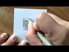 Zentangle Pattern (Muster): Afterglo - YouTube