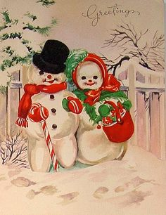 Snow Couple on Blustery Walk ♺ Kathy H