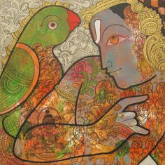 KYNKYNY is an online gallery that showcases a curated selection of original artworks by emerging and established Indian artists at affordable prices. Indian Folk Art, Indian Artist, Krishna Painting, Sacred Art, Silk Painting, Original Artwork, Contemporary Art, Abstract Art, Tempera