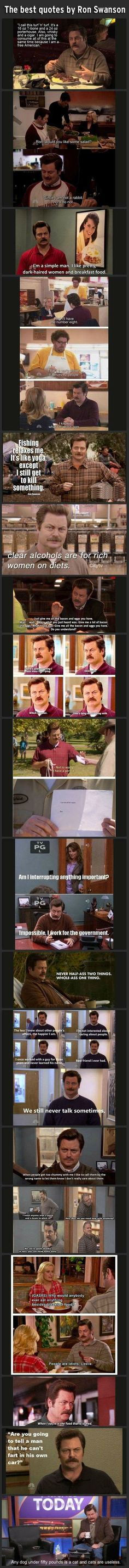 The greatest Ron Swanson quotes