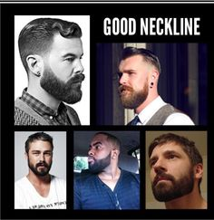 Trimming a beard neckline: good vs bad. Good necklines are very important to make your beard natural. Beard Neckline, Beard Tips, Beard Ideas, Beard Game, Look Man, Beard Grooming, Guys Grooming, Awesome Beards, Beard No Mustache