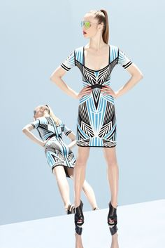 Chic Summer Dresses Resort 2013 by Herve Leger by Max Azria Colorful Fashion, Love Fashion, Fashion Show, Fashion Outfits, Fashion Design, Bohemian Fashion, Max Azria, Herve Leger, Couture Fashion