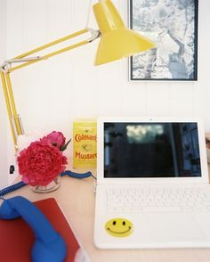 Work Space Photo - An office work space with yellow task lighting
