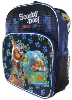 """Scooby Doo Backpack - Medium Size Mr Machine And Scooby Doo Backpack . $15.88. Makes a great gift. Medium / Toddler Sized Backpacks are recommended for Kindergarten age or younger. Medium / Toddler Sized can hold an 8.5"""" x 11"""" standard sized folder. If your child has to carry books to school please order a Full Sized model."""