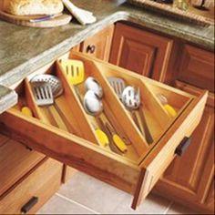 Organization of kitchen tools.