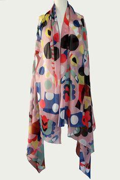 Sonnhild Kestler-scarves 60 Fashion, Summer Scarves, Everyday Fashion, Pattern Design, Rain Jacket, Windbreaker, Summer Outfits, Raincoat, Textiles