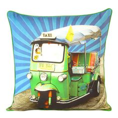 Auto Rikshaw 1 Cushion Cover, now featured on Fab. Cute Pillows, Cotton Pillow, Bar Lighting, Printed Cotton, Vintage Art, Make It Simple, Art Decor, Digital Prints, Objects