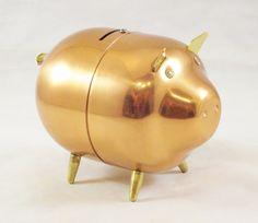Vintage Copper PIGGY Bank. Your favourite piggy banks: http://www.helpmetosave.com/2012/02/piggy-bank/