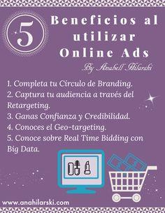 5 Beneficios al utilizar Online Ads - @AnabellHilarski #OnlineAds #Marketing #Negocios